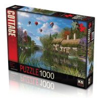 KS GAMES 1000 PARÇA PUZZLE OLD RIVER COTTAGE