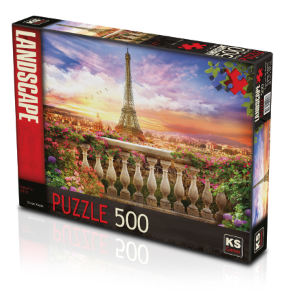 KS GAMES 500 PARÇA PUZZLE SUNSET İN EIFFEL