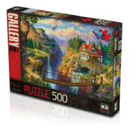 KS GAMES 500 PARÇA PUZZLE HOUSE ON THE CLIFF